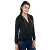 Loco En Cabeza Black Cotton Fleece Long Sleeve Hoodie CZWH0004