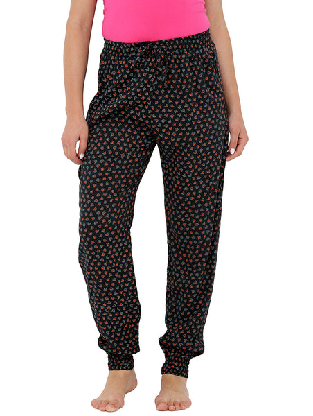 Loco En Cabeza Printed Elasticated Bottom Lounge Pant CZWPY0011
