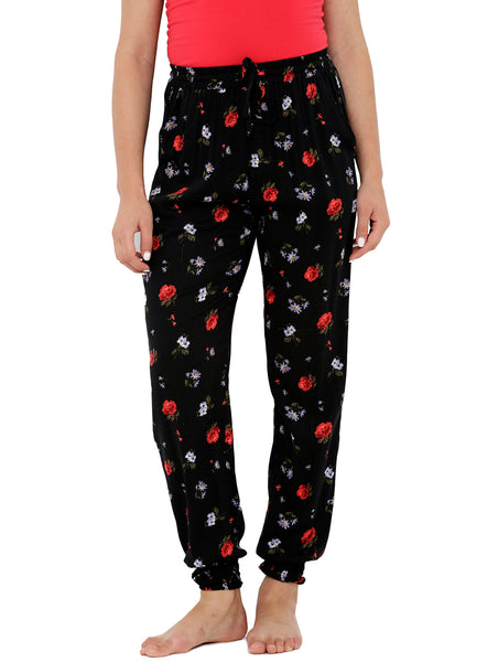 Loco En Cabeza Printed Elasticated Bottom Lounge Pant CZWPY0012