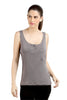 Loco En Cabeza Grey Sleeveless strech Viscose Tank Top   CZWT0047