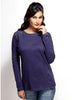 Loco En Cabeza Blue Cotton Lace T Shirt   CZWT0051