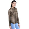 Loco En Cabeza Check Shirt Top CZWT0072