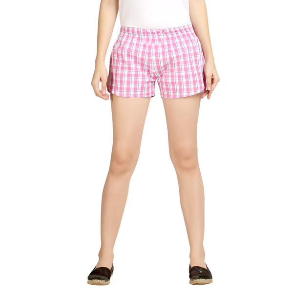 Loco en cabeza Checkered Women's Boxer WLB0018