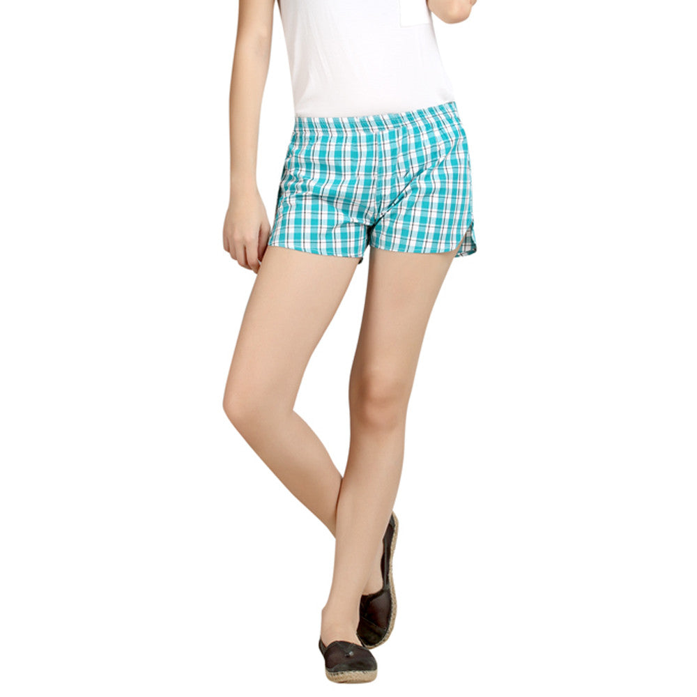 loco en cabeza Checkered Women's Boxer WLB0019