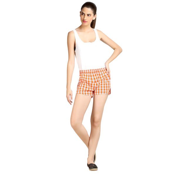 loco en cabeza Checkered Women's Boxer WLB0020