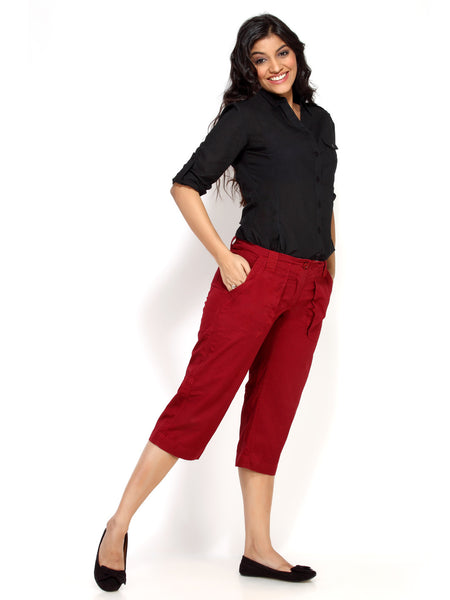 Women's Capri / 3/4 pant | 100% premium cotton. Free Shipping and COD.