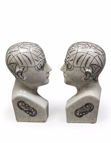 Bookends – Phrenology Head