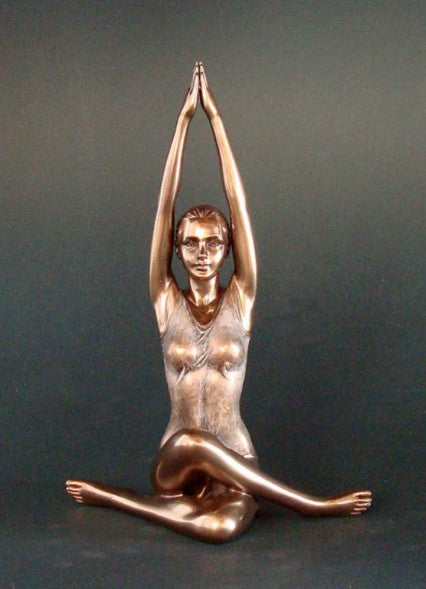 Sculpture: Yoga Nude Female Bronze