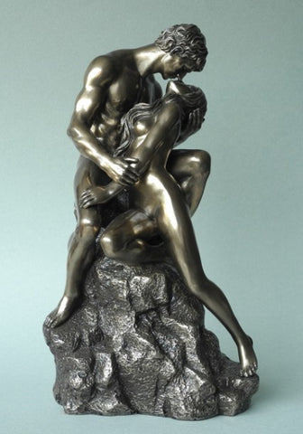 Sculptures –  Nude Couple Kissing figuring – Large