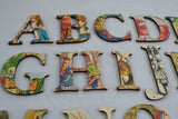 Alice In Wonderland Alphabet, Alice In Wonderland Nursery, Wooden Alphabet Set