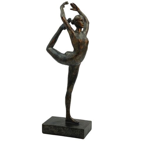 Sculptures –  Bronze Effect Ballerina - Ballet Dancer