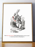 Alice In Wonderland Quote Print - How long is forever?