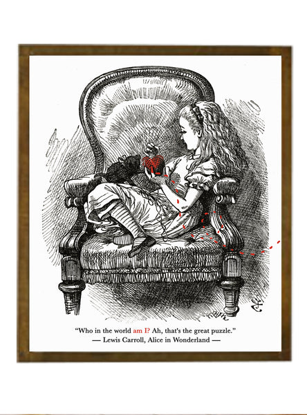 "Alice In Wonderland Quote Print - ""Who in the world am I? Ah, that's the great puzzle."""