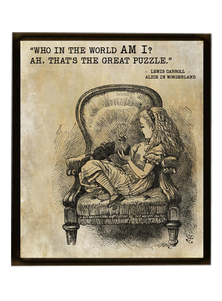Alice In Wonderland Quote Print - Vintage Alice Print