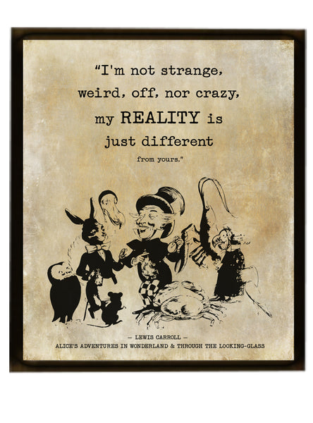 Eternally youthful Alice Quote Print – Through the Looking-Glass Print