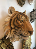 Tiger Head - Large Wall Head Animal - Wild Animal Theme Nursery Decor