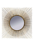 Spiky Mirror – Square Starburst Mirror –  Brushed Gold Square Starburst Mirror – Antique Gold Wall Mirror