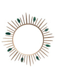 Agate Sunburst Gold Mirror, Starburst Wall Mirror, Metallic Sunburst Mirror