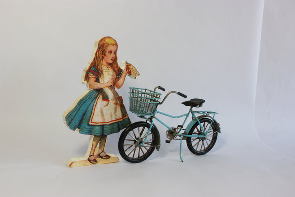 Small Blue Vintage Bike Model – Teen Girl's Bicycle