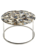 Agate Round Coffee Table –  Marble and Semi-Precious Table  – small side table