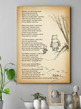 Us Two — Friendship Poems — CANVAS WALL ART —  Poems By A. A. Milne — Winnie The Pooh Quotes