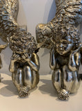 Sitting Angel Cherubs Figures Silver – Hear No Evil See No Evil Speak No Evil