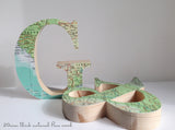 Personalised Map Letters, Freestanding Pine Wood Letters, Travel Wedding Letters