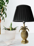 Gold Pineapple Table Lamp, Traditional Brass shade, Midcentury Table Lamps