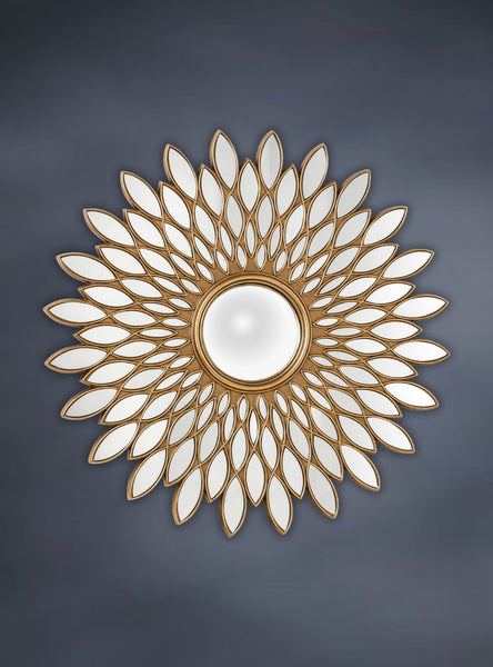 Large Wall Mirror Sunflower,  Antique Gold Colour Mirror