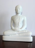 Buddha Statues, White Granite Seated Buddha Statues