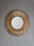 Feathers mirror, Starburst Wall Mirror, Metallic Sunburst Mirror, Hollywood Regency, Starburst Mirror, Sunflower Mirror