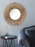 Feathers Mirror - Starburst Wall Mirror - Metallic Sunburst Mirror - Starburst Mirror