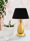 Table Lamp, Pineapple Shape Brass Lamp, Midcentury Table Lamp
