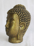 Gold Buddha Head, Buddha Statue, Decorative Buddha Head Ornament