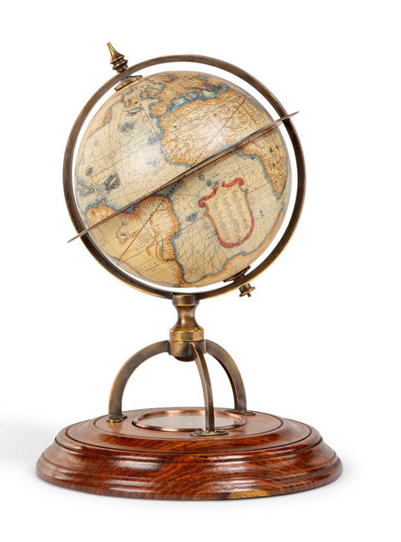 Antique World Globe with compass – Classic Vintage Globe Replica Terrestrial Globe