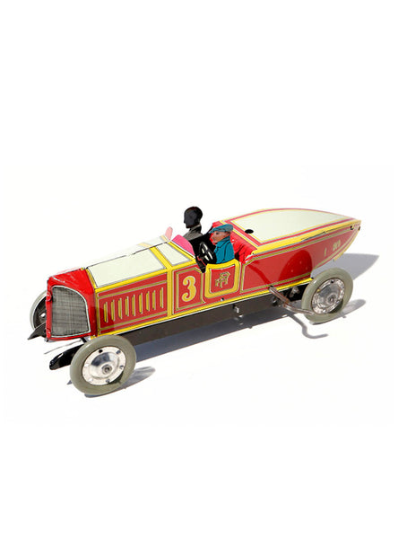 Racing car red N°3 Retro  – Toy Wind-Up cars