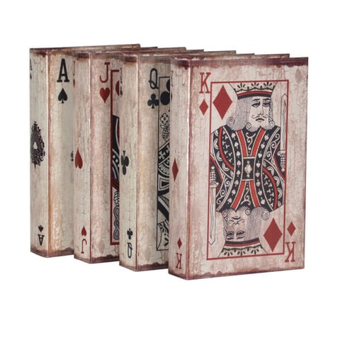 Playing Card Storage Boxe Set –  Set of 4 Medium Size Book Boxes