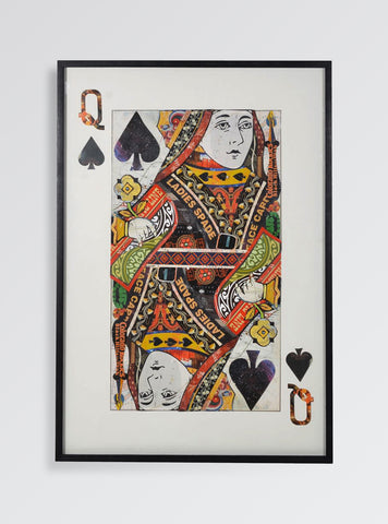 Queen of Spades Large Collage Wall Art – Play Card Home Decor