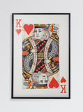 King of Hearts Large Collage Wall Art - Playing Card Home Decor