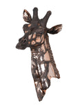 Giraffe Head Wall Mount – Hand Painted Safari Animal Wall Decor