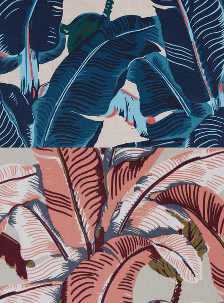 Original Martinique Wallpaper Pattern hand printed on Linen FABRIC