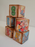 Disney Dumbo – Dumbo Nursery Blocks – Walt Disney's Wooden Name Blocks –Personalised Blocks – Vintage Distressed Blocks  – Little Golden Books