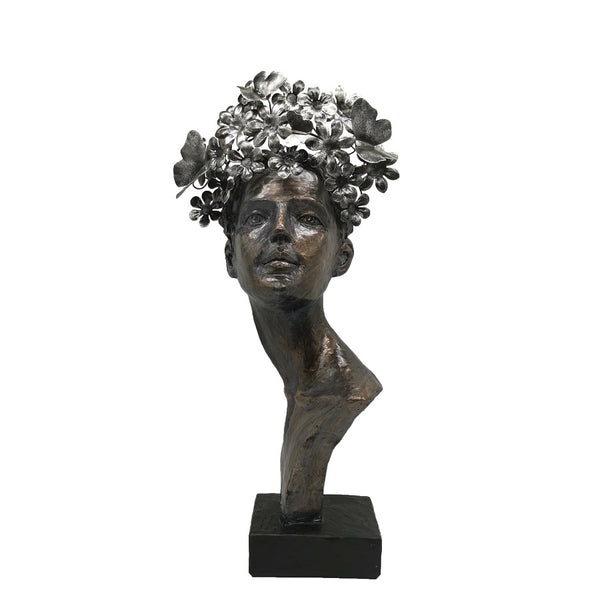 Sculptures –  Bronze Butterfly Face of Lady