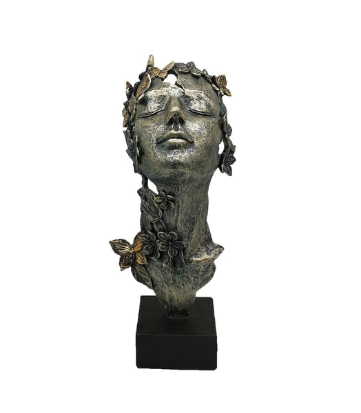 Sculptures –  Lady Face with Butterflies and flower