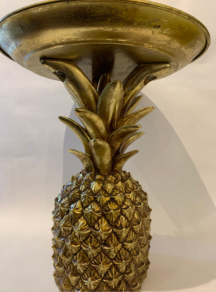 Pineapple Tray Stand - Hollywood Regency - Decorative Gold Pineapple Storage Dish