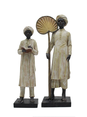 Indian Men –  Turban man Reading Sculpture