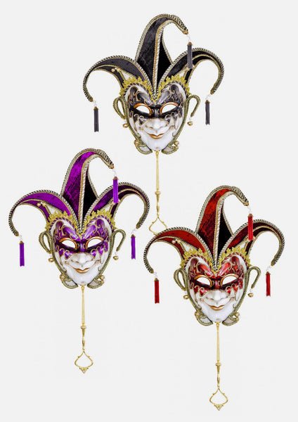 Jester Wall Art Masks –  Venice Carnival Mask