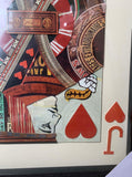 Jack of Hearts Playing Card Collage Wall Art - Playing Card Home Decor King Queen Ace Joker