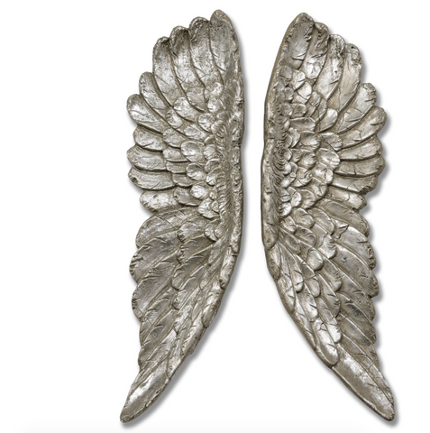 Large Silver Wings  –  Pair of Angel Wings – Victoria's Secret Angels