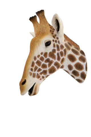 Giraffe Head Wall Art – Hand Painted Safari Animal Wall Decor